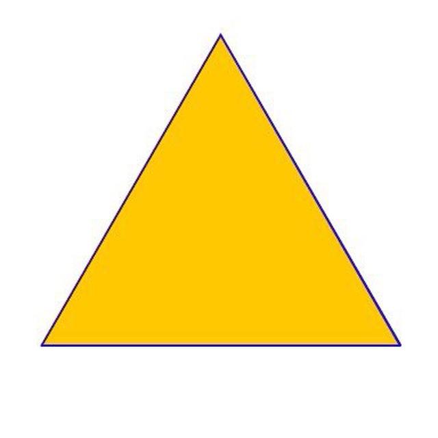 Фигура треугольник картинка для детей