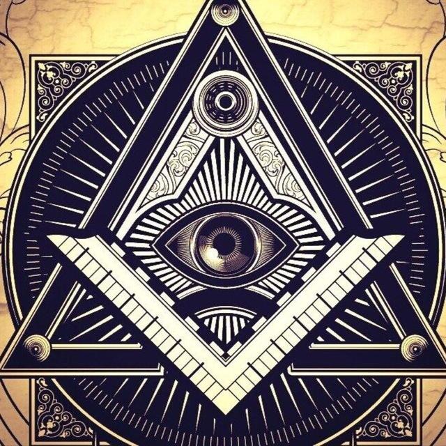 Картинка глаз и треугольник
