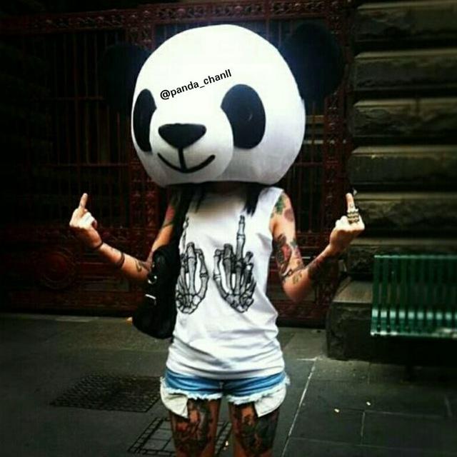 кликните картинки на аву маска панды на человеке готовы потратить